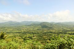 Hills and mountains of the Dominican Republic. View from hills to the Dominican Republic stock photography