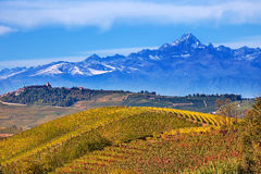 Hills and mountains in Piedmont, Italy. Stock Photography