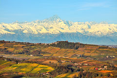 Hills and mountains. Piedmont, Italy. Stock Images