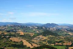 Hills and mountains San Marino Italy Stock Photos