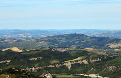 Hills and mountains San Marino Italy landscape Royalty Free Stock Photo