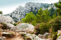 Hills, mountains and see of Calanque national park, Marseille Royalty Free Stock Photos