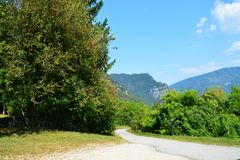 Hills and mountains in Trento, Italy Stock Images
