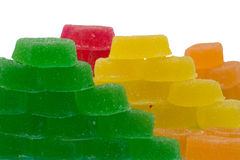 Hills of multi-coloured fruit candy Royalty Free Stock Photography