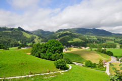 Hills near Gruyeres castle, Switzerland Stock Photos