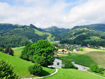 Hills near Gruyeres castle, Switzerland Stock Image