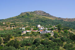 Hills near Polyrrinia village on Crete - Greece Stock Photos