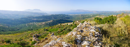 Hills near Polyrrinia village on Crete - Greece Stock Images