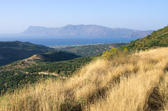Hills near Polyrrinia village on Crete - Greece Stock Image
