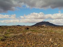 The hills near the village Pozo Negro on Fuerteventura Stock Photography