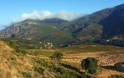 Hills of nebbio in Corsica Stock Photo