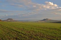Hills Oblik and Rana, Ceske Stredohori Royalty Free Stock Image