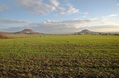Hills Oblik and Rana, Ceske Stredohori Royalty Free Stock Photos