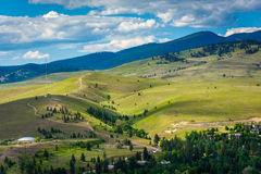 Hills outside of Missoula, seen from Mount Sentinel  Stock Photos