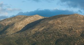 Hills over Heraklion Crete Royalty Free Stock Images