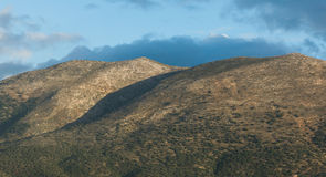 Hills over Heraklion Crete Stock Photo