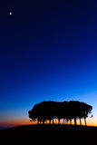 Hills panorama at sunset Royalty Free Stock Photography