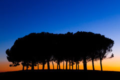 Hills panorama at sunset Royalty Free Stock Images