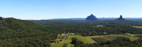Hills and pasture of the Sunshine Coast hinterland. Stock Images