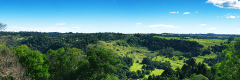 Hills and pasture of the Sunshine Coast hinterland. Stock Photos
