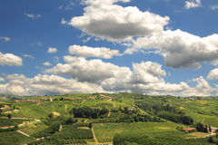 Hills of Piedmont. Northern Italy. Royalty Free Stock Images