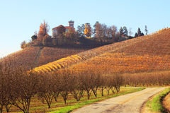 Hills of Piedmont. Northern Italy. Stock Photo