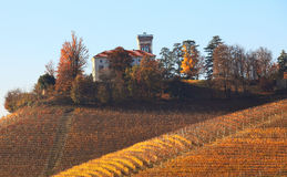 Hills of Piedmont. Northern Italy. Royalty Free Stock Photos