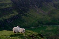 Hills of the Quiraing, Scotland stock photo