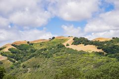 Hills in the Rancho Canada del Oro Open Space Preserve, south San Francisco bay area, San Jose, California royalty free stock image