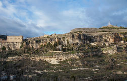 Hills and rocks near Cuenca, Spain Stock Images