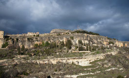Hills and rocks near Cuenca, Spain Royalty Free Stock Photo