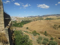 Hills of Ronda. The hills around Ronda, Spain. View from the old town walls Stock Images
