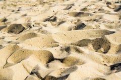Hills of sand on beach Stock Photos