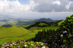 The hills of Sao Miguel island, Azores, Stock Photo