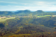 Hills in saxony Stock Images