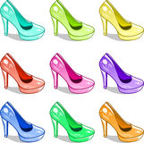 Hills shoes pattern Stock Photography