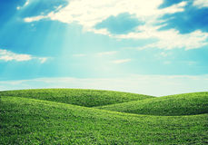 Hills and sky Stock Images
