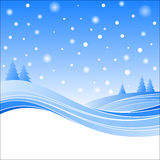 Hills and snow Royalty Free Stock Images