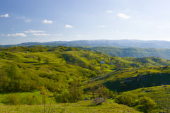 Hills at spring in Montenegro Royalty Free Stock Images