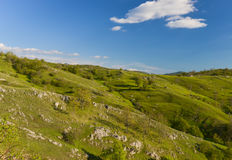 Hills at spring in Montenegro Royalty Free Stock Photo