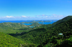 The hills of St. John, USVI Stock Image