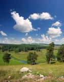Hills summer landscape Royalty Free Stock Photo