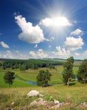 Hills summer landscape Stock Images