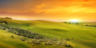 hills and sunrise Royalty Free Stock Photo