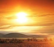 Hills on sunset Royalty Free Stock Image