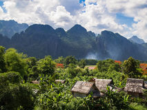 Hills surrounding Vang Vieng, Laos. Royalty Free Stock Photo