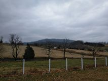 Hills of Tennessee. View from graveyard Stock Photography