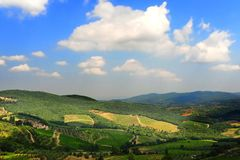 Hills Of Tuscany Royalty Free Stock Photography