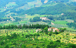 Hills in Tuscany. A view of the hills and landscape of Tuscany, Italy Stock Images