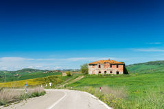 Hills of Tuscany. Beautiful spring time in Italy Stock Images
